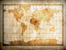 World map on paper Royalty Free Stock Photo