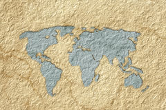 World map paper Royalty Free Stock Photos