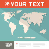 World Map Paper Cut Vector Royalty Free Stock Photos