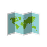 World map paper geography icon Royalty Free Stock Images