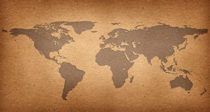 World map paper recycle Royalty Free Stock Photography