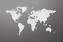 World map with paper texture on gray background Royalty Free Stock Photo
