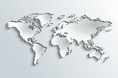 World map in peeling paper Royalty Free Stock Image