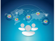 World map people network connection Stock Images