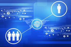 World map with peoples icons Royalty Free Stock Photography