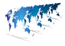 World map perspective Royalty Free Stock Photography