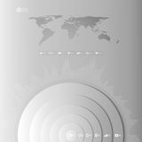 World map in perspective, infographic vector Royalty Free Stock Photography