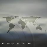 World map in perspective, infographic vector Royalty Free Stock Images