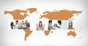 World map with photographs Royalty Free Stock Photo