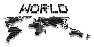 World map pixel Royalty Free Stock Image