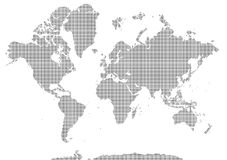World map pixelated. Vector illustration of pixelated world map Royalty Free Stock Image
