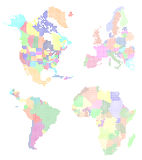 World map pixelated. Vector illustration of pixelated world map Royalty Free Stock Images