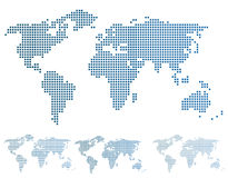 World map in pixels. Stock Photography