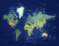 World Map. Royalty Free Stock Photos