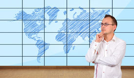 World map plasma panel Stock Photography