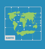 World Map plastic model kit. geography Continents of planet eart Stock Photos