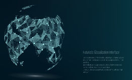 World Map Point. Asia. Vector Illustration. Composition, Representing The Global Network Connection, International. Meaning. Futuristic Digital Earth Royalty Free Stock Photo
