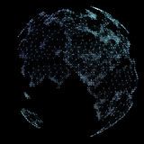 World map point, line, representing the global, network connection. Stock Image