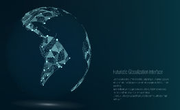World Map Point. South America. Vector Illustration. Composition, Representing The Global Network Connection Stock Photos