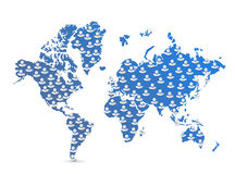 World map population illustration Royalty Free Stock Photos