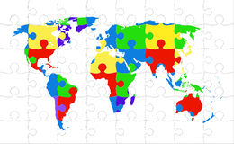 World map puzzle vector illustration