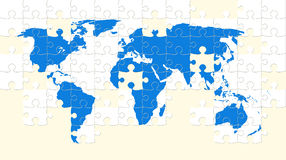 World map puzzle Stock Image