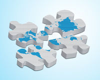 World map puzzle Royalty Free Stock Image