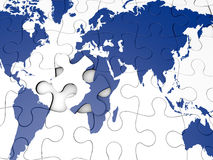 World Map puzzle Stock Images