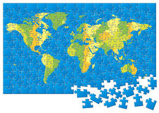 World map puzzle Stock Photo