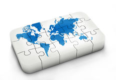 World map in puzzle Stock Photography