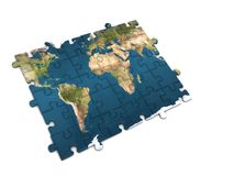 World map puzzle Royalty Free Stock Images