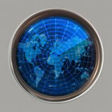 World map radar or sonar Stock Photos