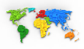 World map of rainbow colors Royalty Free Stock Photography