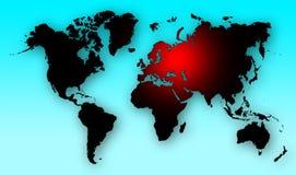 World war map alert Royalty Free Stock Photography