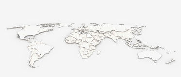 World map relief Royalty Free Stock Photography
