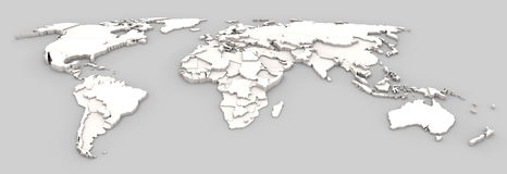 World map relief Stock Photography