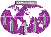 World map represented success in finance Stock Image