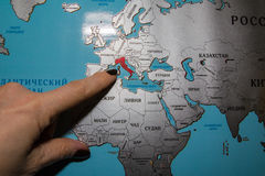 World Map In Russian Language Stock Photo Image Of Flag Russian - World map russian language