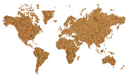 World map with sand texture Stock Image