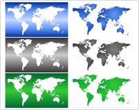 World map series Stock Photos