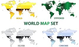 World map set Stock Photography