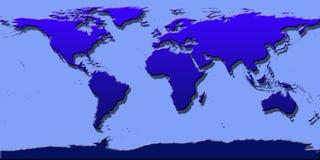 World map shadow Stock Photo