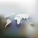 World map with shadow, network connection concept Royalty Free Stock Image