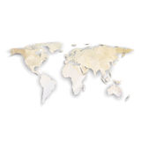 World map with shadow, textured design vector Royalty Free Stock Photography