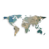 World map with shadow, textured design vector Royalty Free Stock Photos