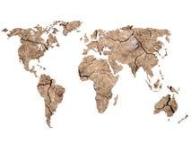 World map Shape on Soil Background Stock Image
