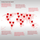 World map with shields -. Graphic Royalty Free Stock Images