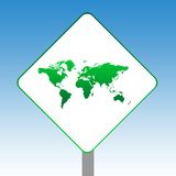 World Map sign Royalty Free Stock Photography