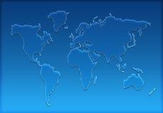 World map silhouette Stock Photos