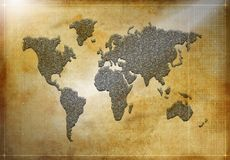 World map silhouette Stock Photo